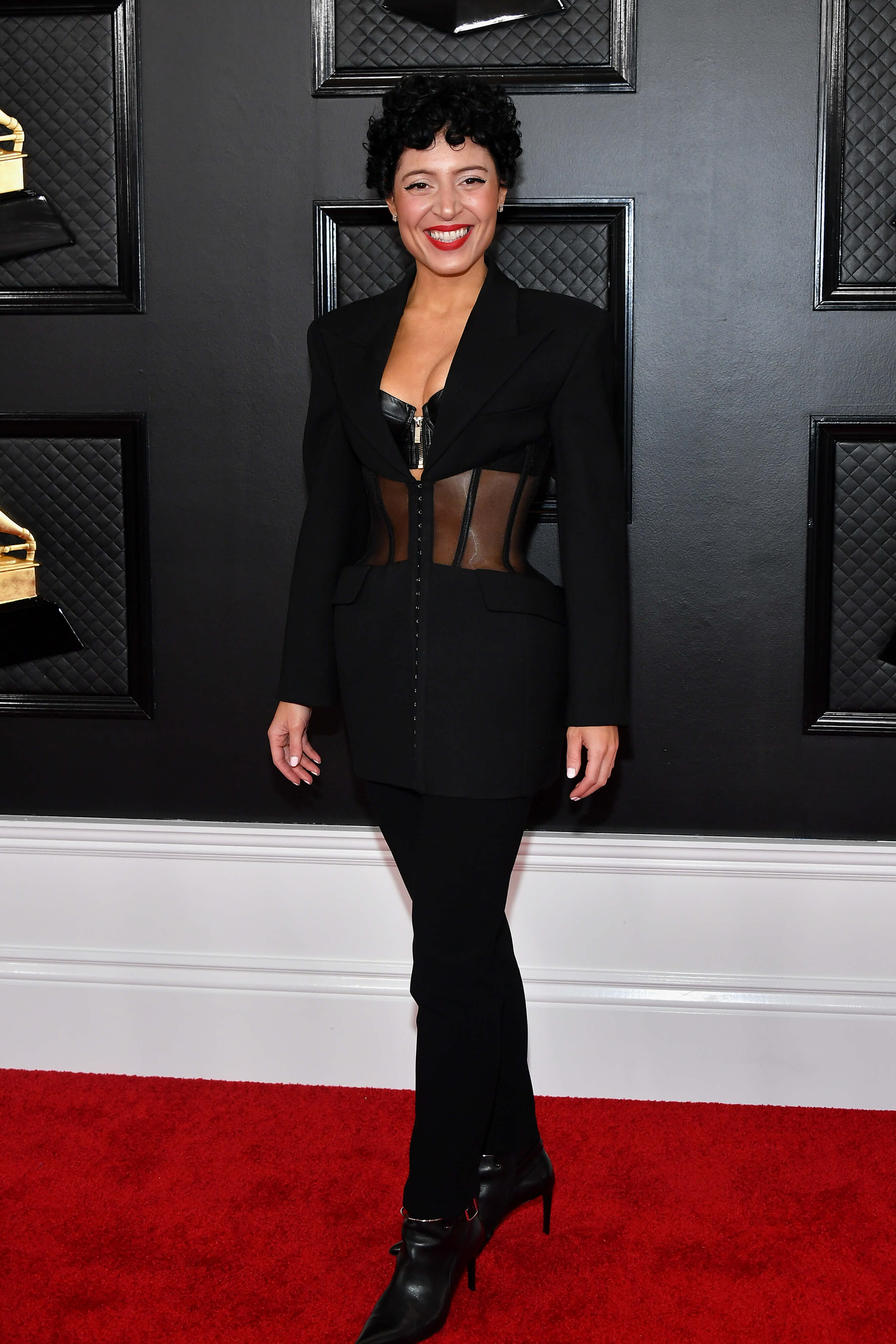 Emily King wears Mugler Annual Grammy Awards